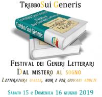 16 giugno ore 12, Trebbo Sui Generis Festival dei generi letterari